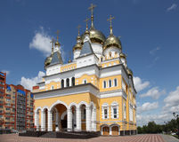 Russia. The Church of Cyril and Methodius in Saransk. View at Russia The Church of Cyril and Methodius in Saransk, Mordovia republic, Russia Royalty Free Stock Photo