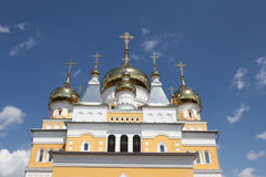 Russia. The Church of Cyril and Methodius in Saransk. View at Russia The Church of Cyril and Methodius in Saransk, Mordovia republic, Russia Royalty Free Stock Photography