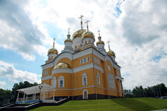 Russia. The Church of Cyril and Methodius in Saransk. View at Russia The Church of Cyril and Methodius in Saransk, Mordovia republic, Russia Stock Photo