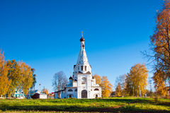 Russia, church in Krasnoe na Volge stock photo
