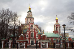 Russia. The Church Of St. John The Warrior. The building of the temple was erected in 1704-1713 years, in the reign of Peter the Great in memory of the battle Stock Image
