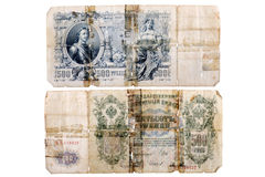 RUSSIA CIRCA 1912 a banknote of 500 rubles Royalty Free Stock Photo