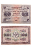 RUSSIA - CIRCA 1918 a banknote of 10000 rubles Stock Images