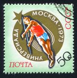 Javelin. RUSSIA - CIRCA 1973: stamp printed by Russia, shows Javelin, circa 1973 Stock Photography