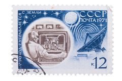 RUSSIA - CIRCA 1971: stamp printed by , shows lunohod, moo Stock Photo