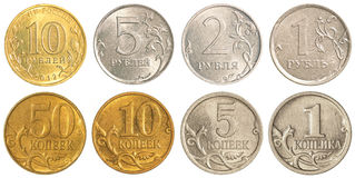 Russia circulating coins collection set Stock Photo
