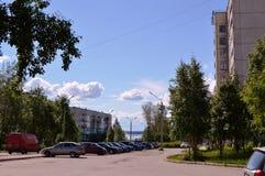 Russia,city Kandalaksha. The Image of the city Stock Photos