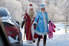 Russia, city of Magnitogorsk, - January, 3, 2012. Slavic Santa stock photo