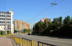 Russia. The city of Murmansk.Lenin Avenue. The Image of the city Royalty Free Stock Image