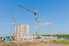Russia. City Orel. Building a house. Stock Photos