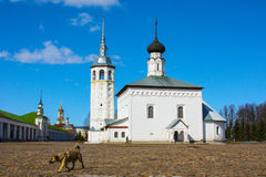 Russia. The City Of Suzdal. Winter. An Orthodox Church. Royalty Free Stock Image