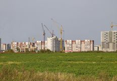 Russia.City of Vologda, construction of new apartment buildings 5th district 2018. Marshal Konev street royalty free stock images