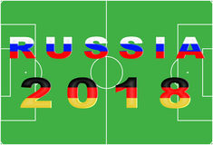 Russia 2018 Conceptual Background Royalty Free Stock Photos