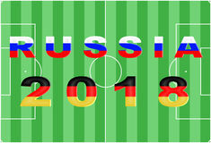 Russia 2018 Conceptual Background. Russia 2018 Conceptual Soccer (Football / Futbol) Tournament Background Royalty Free Stock Photography