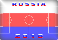 Russia 2018 Conceptual Background. Russia 2018 Conceptual Soccer (Football / Futbol) Tournament Background Royalty Free Stock Image