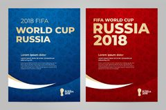Russia 2018 Cup. Template. FIFA World Cup Russia 2018. Layout template design royalty free illustration