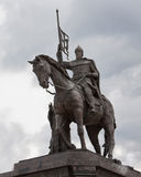 Russia. Detail of the monument to Prince Vladimir and St. Theodore in Vladimir on the background of cloudy sky. The monument to the Baptist of land Vladimir royalty free stock photo
