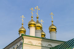 Russia. Domes of orthodox church. Stock Photos