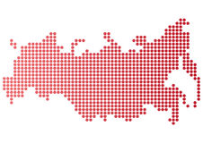 Russia Dot Map Stock Images