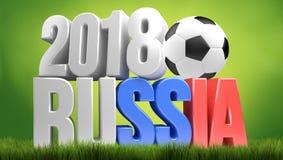 2018 Russia duży symbol 3d odpłaca się Obraz Stock