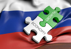 Russia economy and financial market growth concept. 3D rendered concept of the Russia economy and its financial market growth Royalty Free Stock Photo