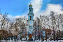 Russia . Ekaterinburg . Church of the ascension on the ascension hill.  stock image