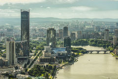 Russia . Ekaterinburg . View city waterfront Royalty Free Stock Image