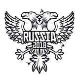Russia 2018 emblem design. Icon vector illustration graphic design Stock Photos