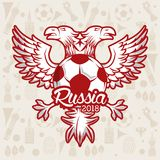 Russia 2018 emblem design. Vector illustration graphic design Stock Image