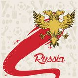 Russia 2018 emblem design. Vector illustration graphic design Royalty Free Stock Image