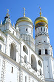 Russia Ensemblie of the Kremlin bell towers 1505-08 Summer day. Ensemblie of the Kremlin bell towers 1505-08 royalty free stock image