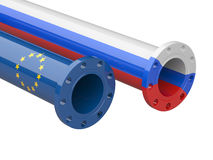 Russia - Europe  gas crisis concept. Stock Photography