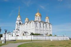 russia för cirkel för domkyrkadormition guld- vladimir fotografering för bildbyråer