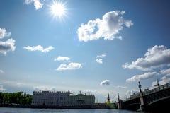 russia för fontankapetersburg rriver st Arkivbild