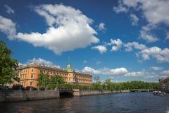 russia för fontankapetersburg rriver st Fotografering för Bildbyråer