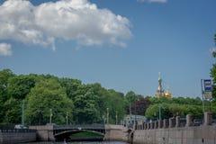russia för fontankapetersburg rriver st Royaltyfria Foton