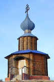 russia för kapellbergpermanent vitt trä Royaltyfria Foton