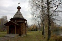 russia för kapellbergpermanent vitt trä arkivfoton