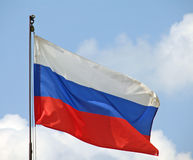 Russia flag. Russian flag royalty free stock photography