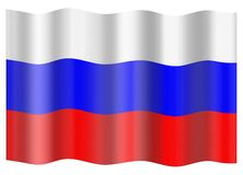 Russia flag Royalty Free Stock Photo