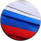Russia flag or banner. Made with red, blue and white ribbons Stock Photography