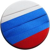 Russia flag or banner. Made with red, blue and white ribbons Stock Image