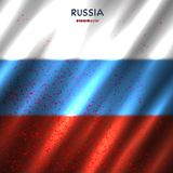 Russia flag in blood. Background. National Russian banner symbol backdrop Royalty Free Stock Images