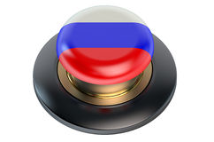 Russia flag button Stock Images