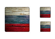 Russia Flag Buttons Royalty Free Stock Images