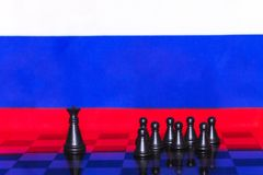 Russia Flag Chess as a policy 14. Russia Flag Elections Chess as a policy Royalty Free Stock Photography