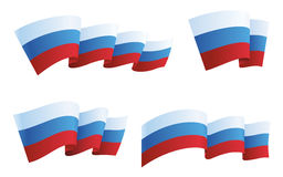 Russia flag collection. Vector illustration Stock Images