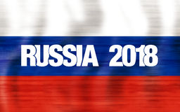 2018 Russia Flag Design. Graphic modern Illustration Royalty Free Stock Photos