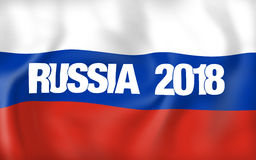 2018 Russia Flag Design. Graphic modern Illustration Royalty Free Stock Images