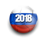 2018 Russia Flag Design. Graphic modern Illustration Royalty Free Stock Photo